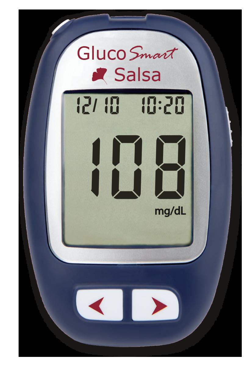 GlucoSmart Salsa Blutzuckermessgerät Diabetes Blutzucker Messung MSP bodmann